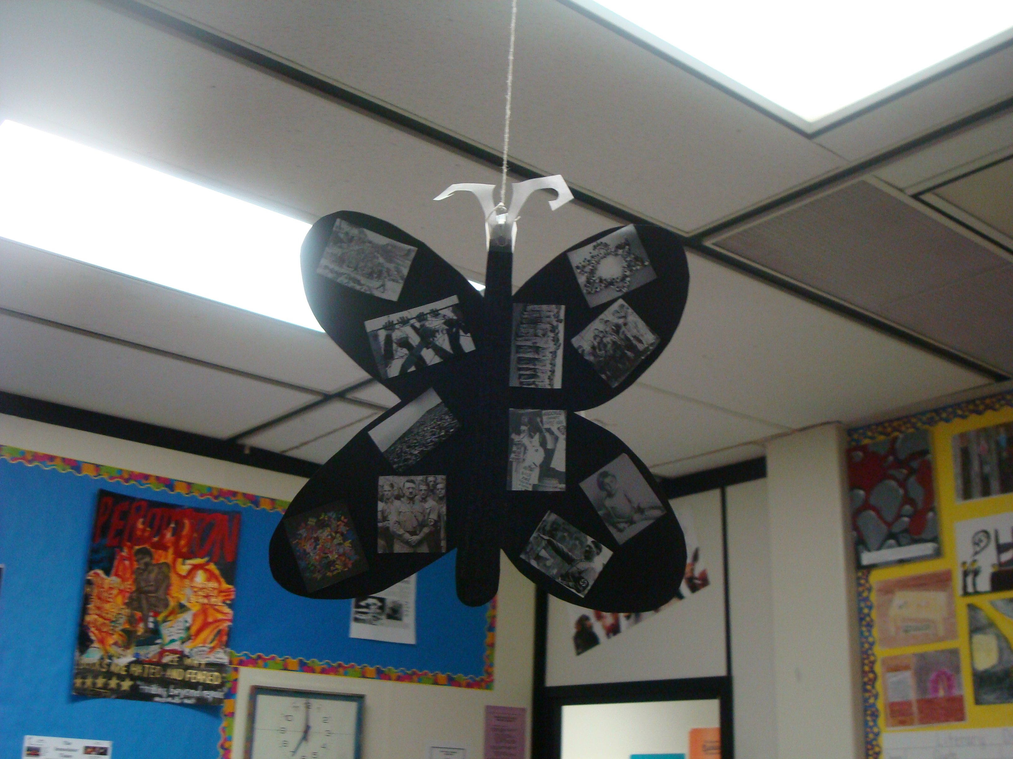 the butterfly project Butterfly sun catcher fun craft to connect to insect science unit maybe with butterfly poems find this pin and more on the butterfly project by holocaustm.